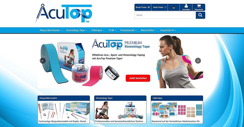 Acutop - Akupunkturnadeln, Kinesiology Tapes und Praxisbedarf 1