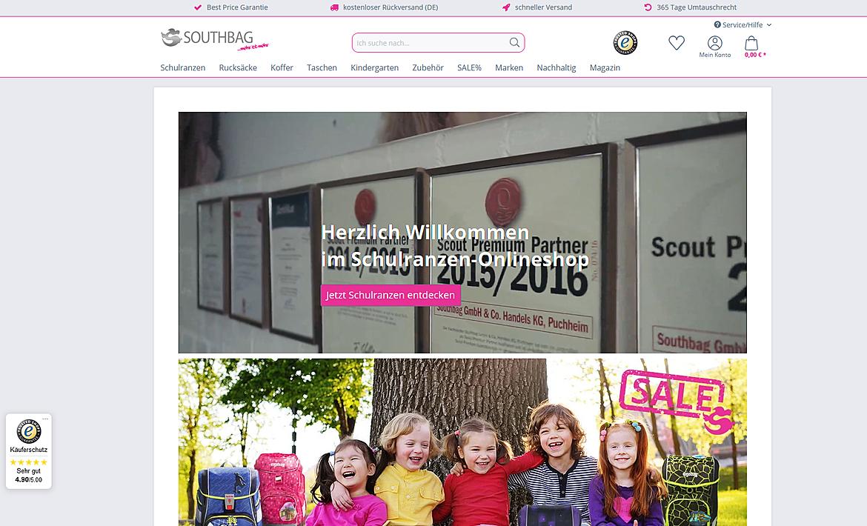 Schulranzen-Onlineshop.de - Southbag - Schulranzen, Rucksäcke, Koffer und mehr 1