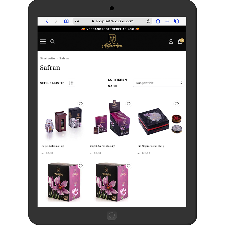 Safranccino Online Shop 3