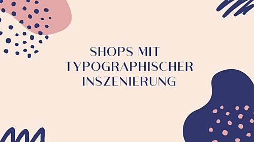 Typographische Inszenierung