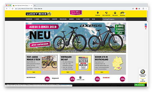 Lucky-Bike Onlineshop