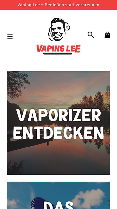 Vaping Lee — Genießen statt verbrennen 1
