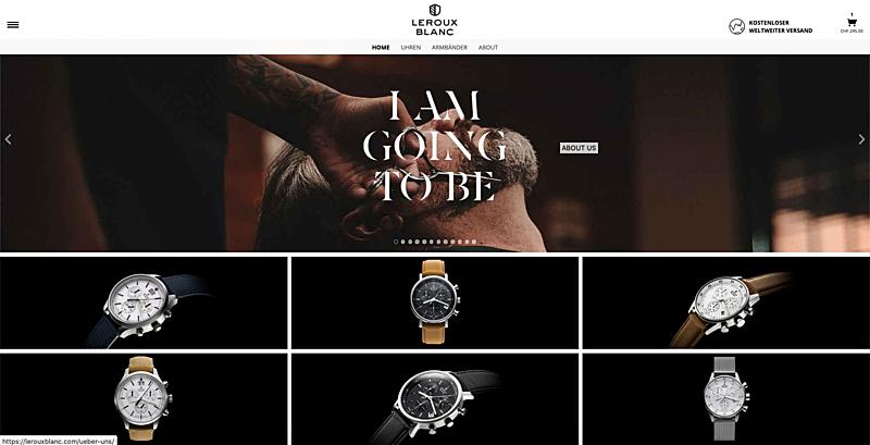 Uhrenshop   Swiss Made Uhren Lerouxblanc  1