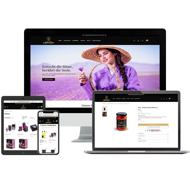 Safranccino Online Shop 1