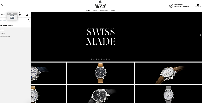 Uhrenshop | Swiss Made Uhren Lerouxblanc  2