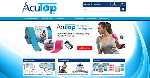 Acutop - Akupunkturnadeln, Kinesiology Tapes und Praxisbedarf