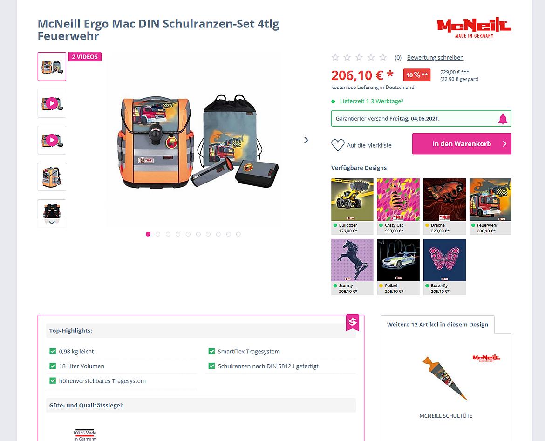 Schulranzen-Onlineshop.de - Southbag - Schulranzen, Rucksäcke, Koffer und mehr 3