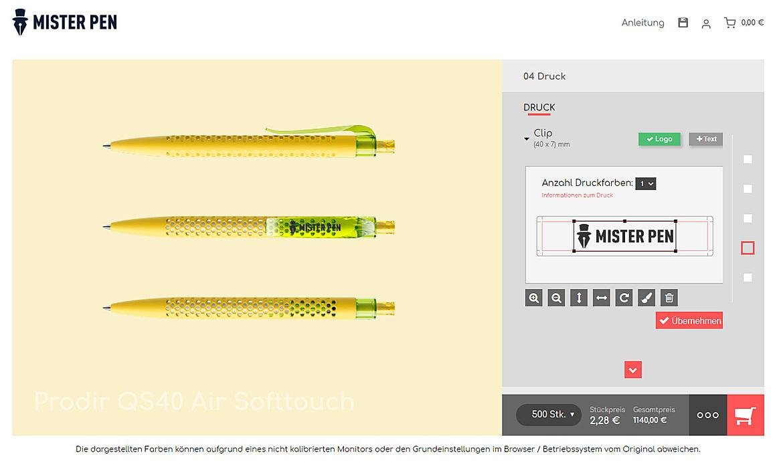 Mister Pen - Der Konfigurator für Ihren individuellen Werbekugelschreiber 3