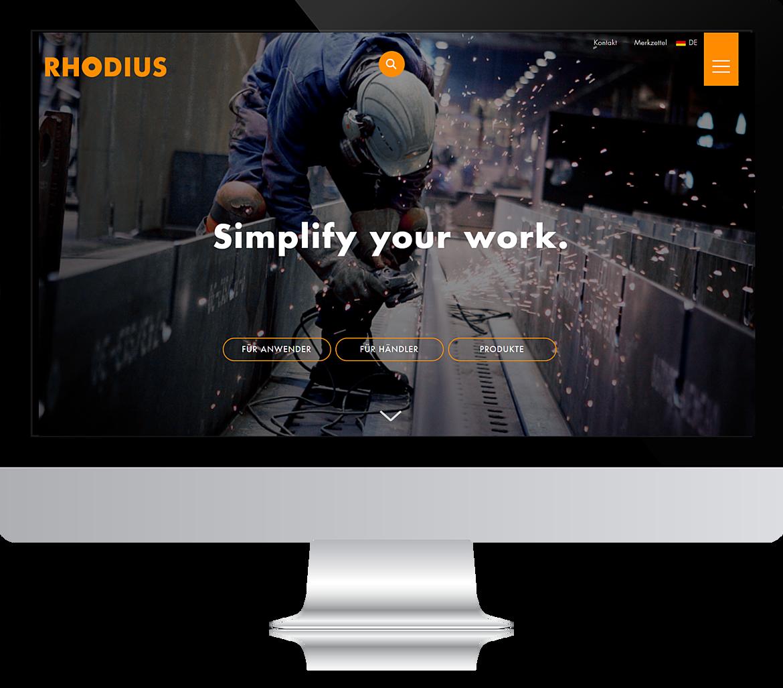 RHODIUS Abrasives - Simplify your work. 1