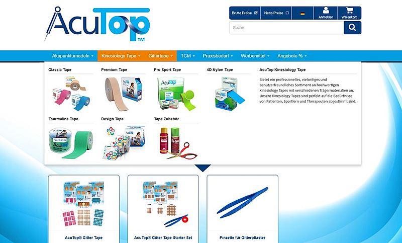 Acutop - Akupunkturnadeln, Kinesiology Tapes und Praxisbedarf 2