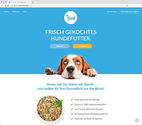 Mr. Fred - frisch gekochtes Hundefutter
