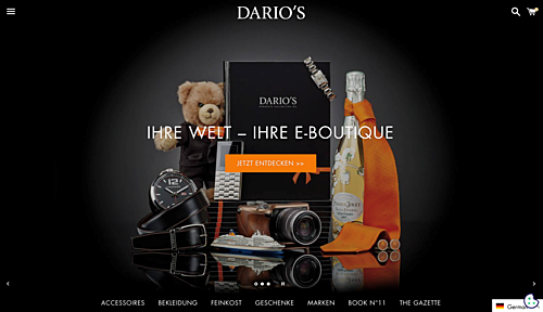 DARIO'S e-Boutique: Germany's Online Luxury Goods Retailer