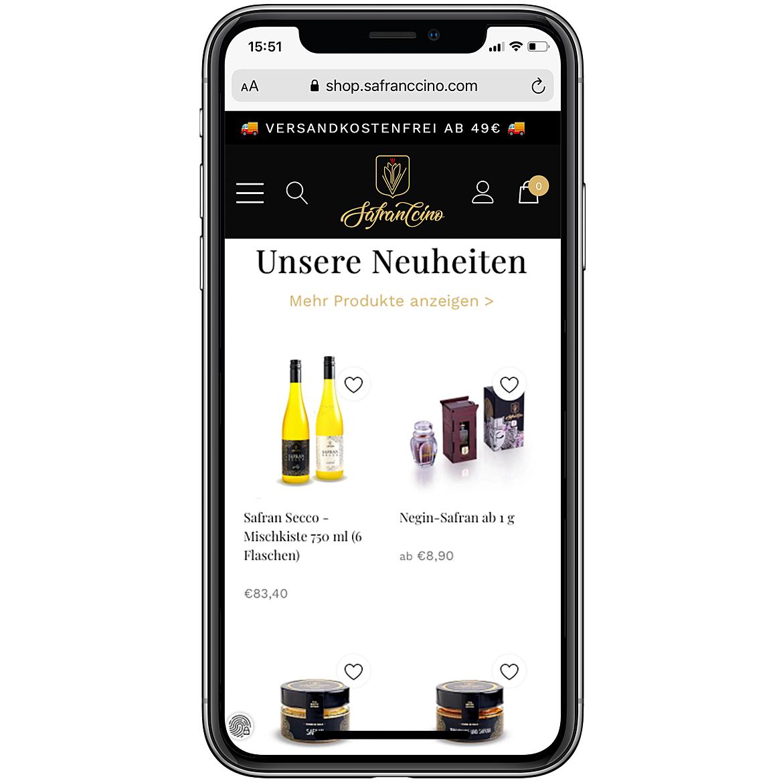Safranccino Online Shop 4