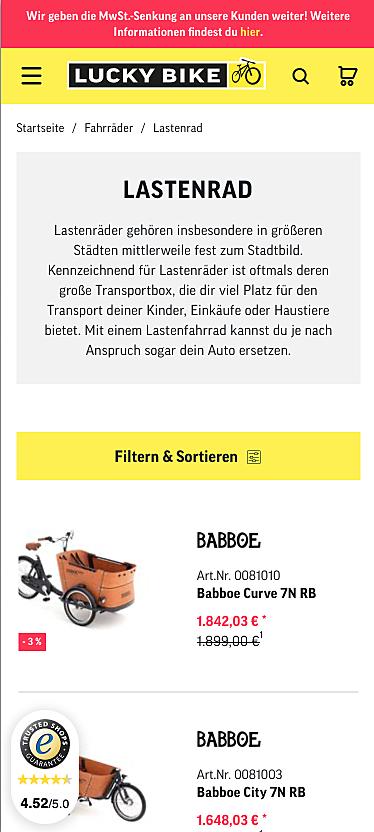 Lucky-Bike Onlineshop 2