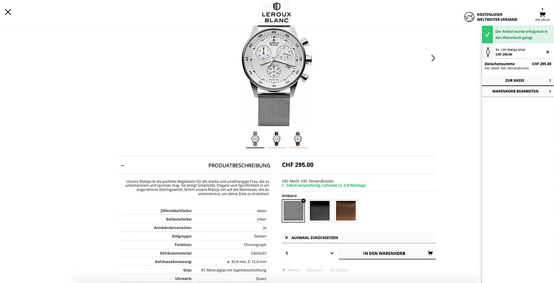Uhrenshop | Swiss Made Uhren Lerouxblanc  6