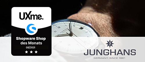 Uhren von Junghans – der Shopware Shop des Monats August
