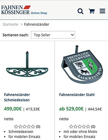 Fahnen Kössinger 3