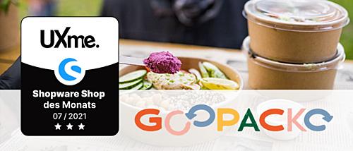 Smart & nachhaltig – GOOPACKO ist bester Shopware Shop im Juli