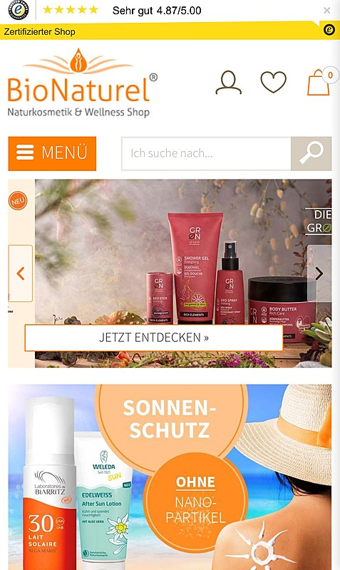 BioNaturel Naturkosmetik Online Shop  1