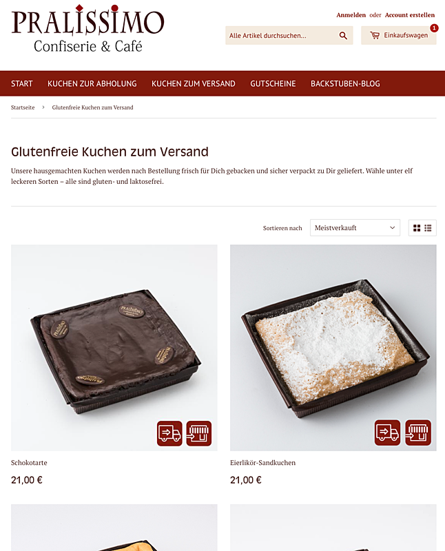glutenfreierkuchen.de –Pralissimo Confiserie, Café, Backstube und Manufaktur 1