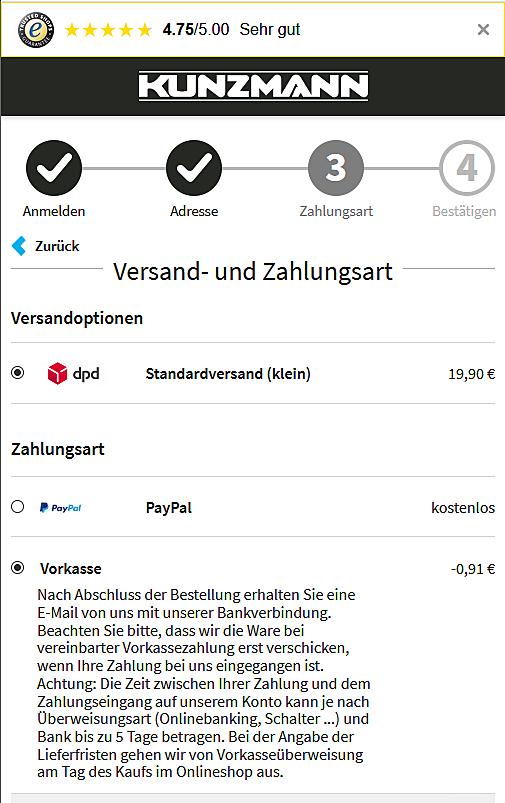 Autohaus KUNZMANN Onlineshop 2