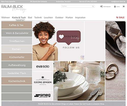 raum-blick.de Wohndesign, Wohnaccessoires & Design Möbel
