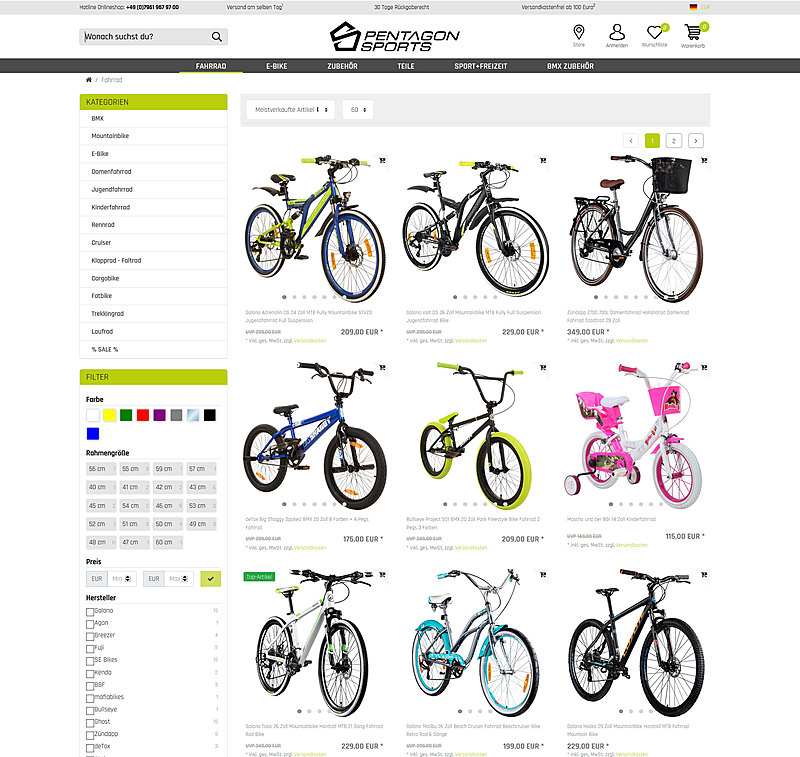 Pentagon Sports Online Shop 3