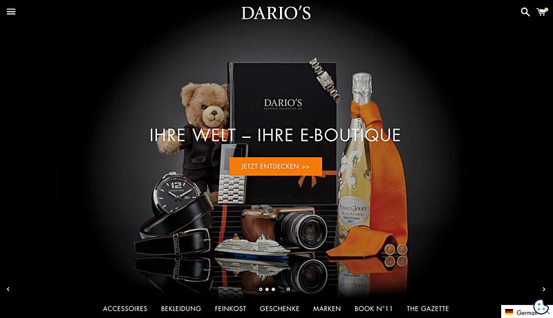 DARIO'S e-Boutique: Germany's Online Luxury Goods Retailer 1