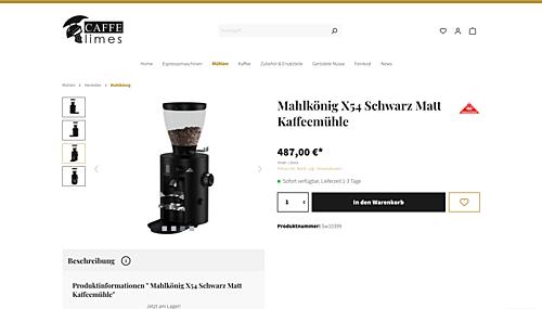Kaffee- & Gewürzmühlen von Mahlkönig - Caffe Limes