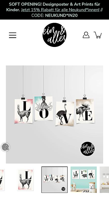 ein & alles Designposter 4
