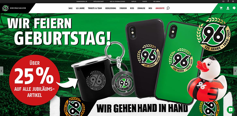 Hannover 96-Onlineshop 1