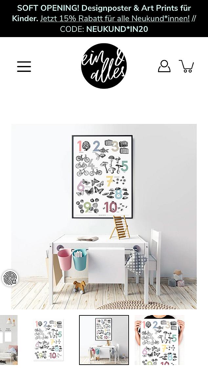 ein & alles Designposter 5