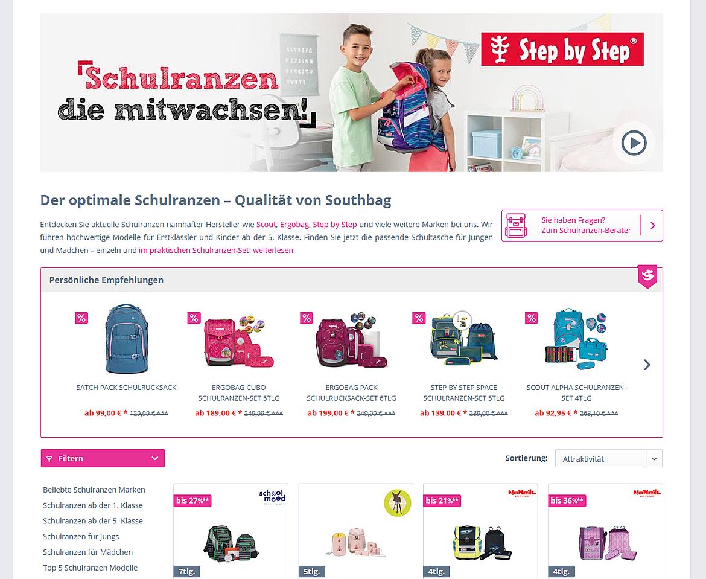 Schulranzen-Onlineshop.de - Southbag - Schulranzen, Rucksäcke, Koffer und mehr 2