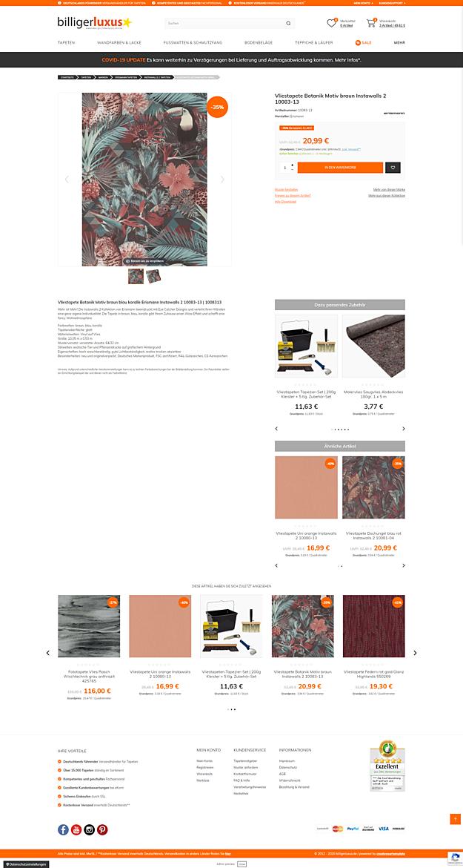 Billigerluxus – der Online-Shop für Tapeten, Wandfarben und Wohndesign 3