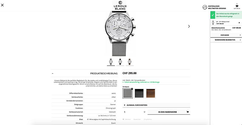 Uhrenshop   Swiss Made Uhren Lerouxblanc  5