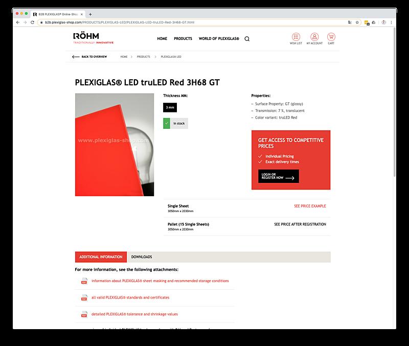 PLEXIGLAS® B2B Onlineshop für Händler und Verarbeiter  2