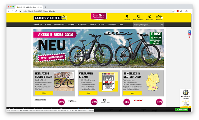 Lucky-Bike Onlineshop 1