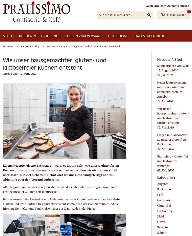 glutenfreierkuchen.de –Pralissimo Confiserie, Café, Backstube und Manufaktur 2