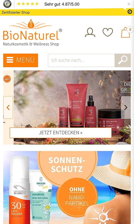 BioNaturel Naturkosmetik Online Shop  1