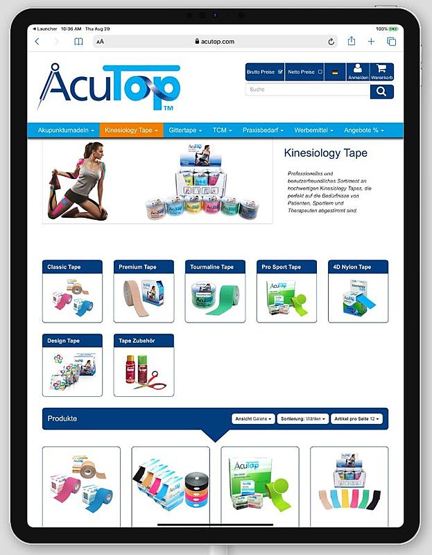 Acutop - Akupunkturnadeln, Kinesiology Tapes und Praxisbedarf 3