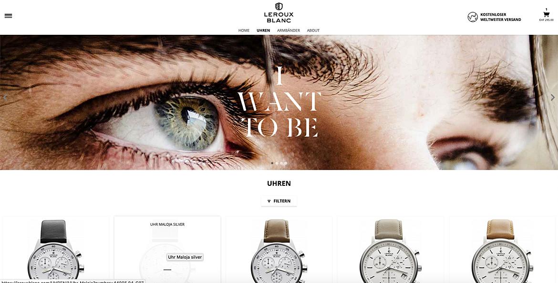 Uhrenshop | Swiss Made Uhren Lerouxblanc  4