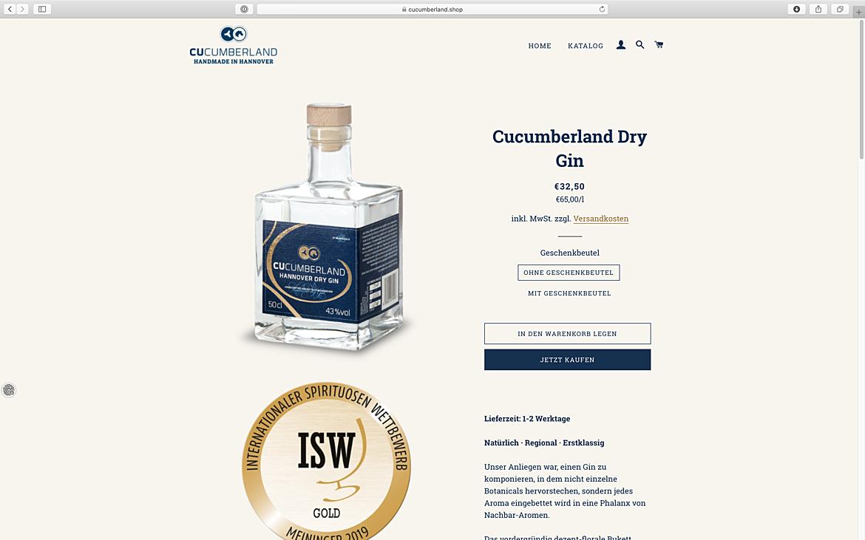 Cucumberland Gin 1