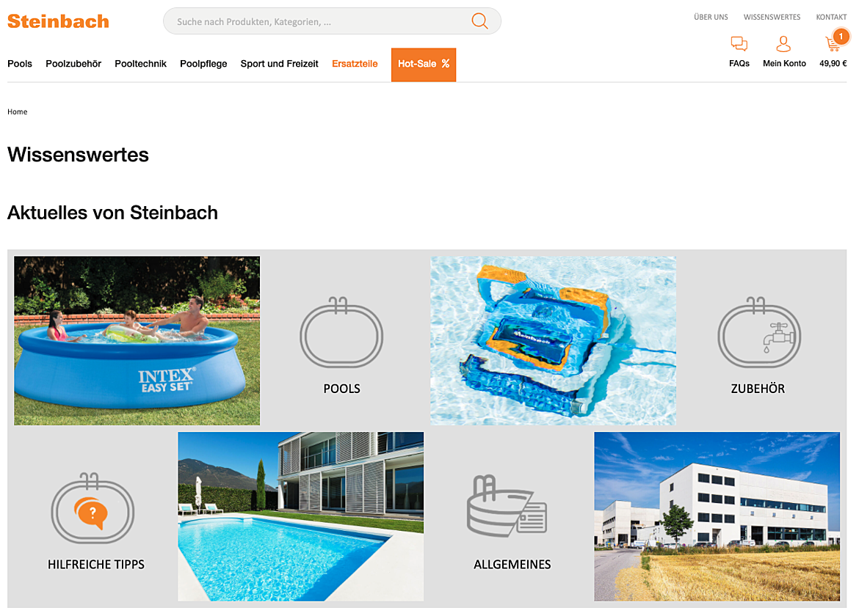 """Steinbach Pools und Poolzubehör - """"we are pool"""" 6"""