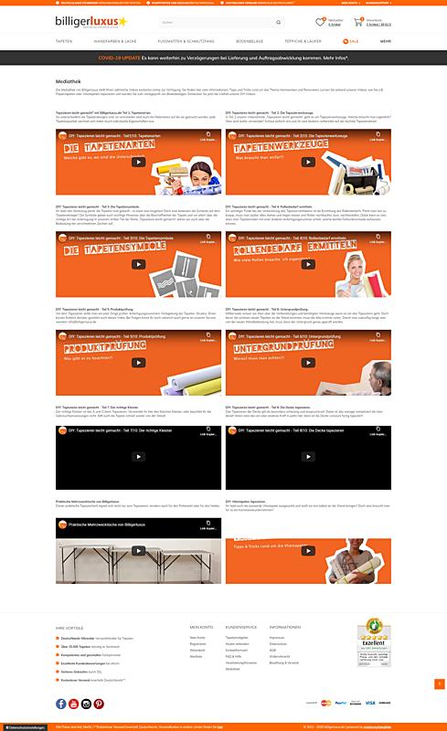 Billigerluxus – der Online-Shop für Tapeten, Wandfarben und Wohndesign 4