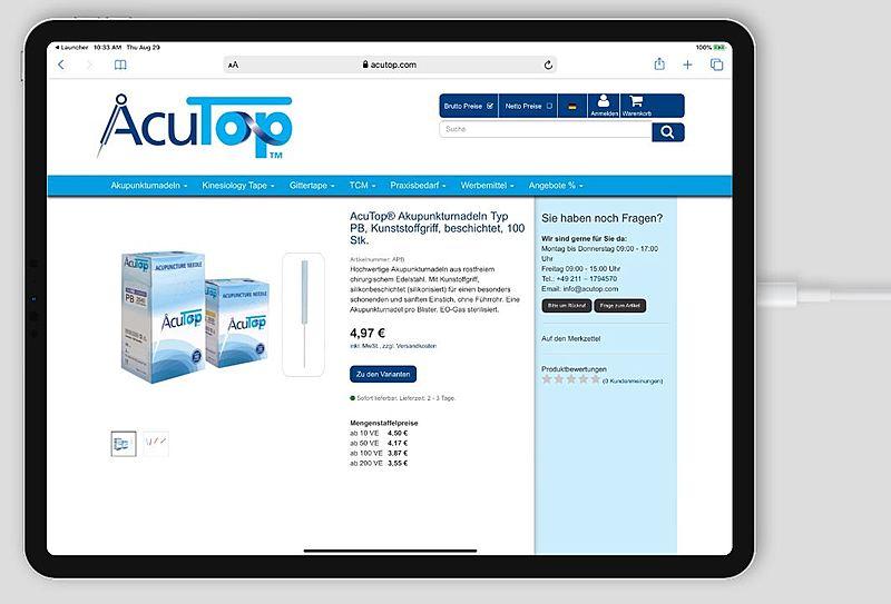 Acutop - Akupunkturnadeln, Kinesiology Tapes und Praxisbedarf 4