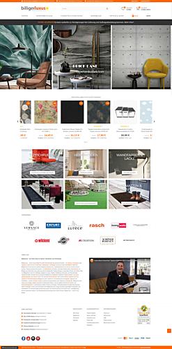 Billigerluxus – der Online-Shop für Tapeten, Wandfarben und Wohndesign