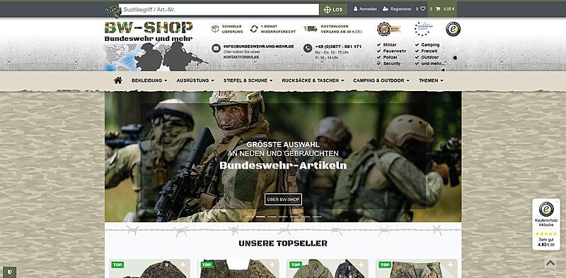 BW-Shop - Bundeswehr und mehr 1