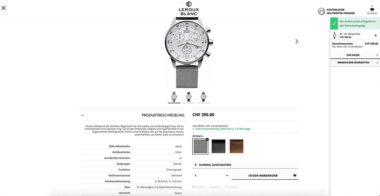 Uhrenshop | Swiss Made Uhren Lerouxblanc  5