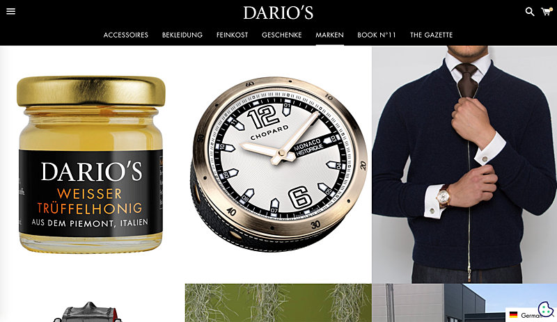 DARIO'S e-Boutique: Germany's Online Luxury Goods Retailer 3