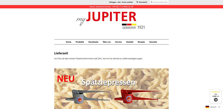 Jupiter Küchenmaschinen 1